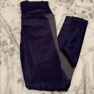 ALO YOGA navy blue pants w/grey accent